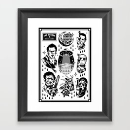Classic Horror Tattoo Set Framed Art Print