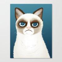 grumpy Canvas Prints featuring Grumpy by StudioMarimo