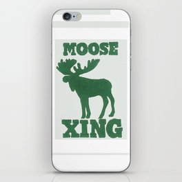 Moose Xing iPhone Skin