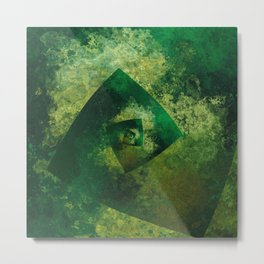 The Endless Green Metal Print