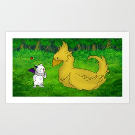Final Friendship Art Print