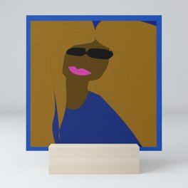 Sunglasses and Smirk Mini Art Print