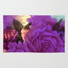purple roses and light Rug