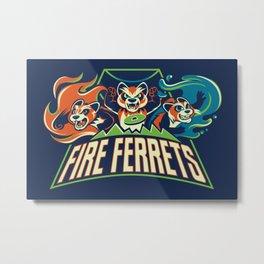 Fire Ferrets Metal Print