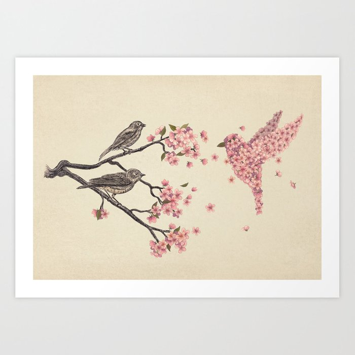 Blossom Bird  Art Print