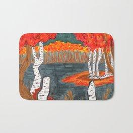 Autumn Landscape Bath Mat