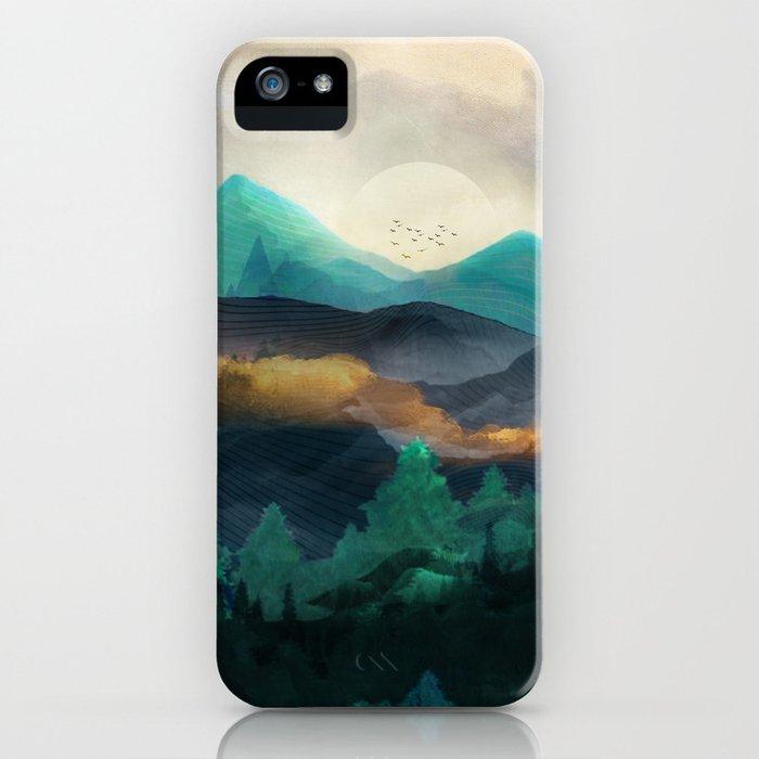 Green Wild Mountainside iPhone Case