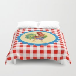 Rise and Shine Rooster Duvet Cover