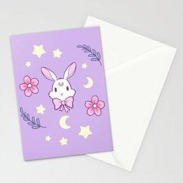 Sakura Bunny // Purple Stationery Cards