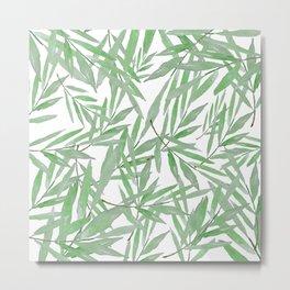 leave pattern Metal Print