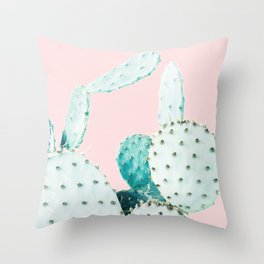 Cactus, Plant, Cacti, Nature, Pastel, Art, Scandinavian, Wall art Print Throw Pillow