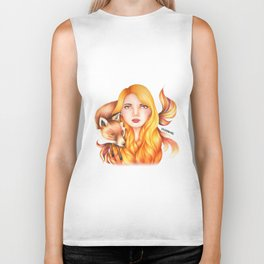"Element Girls Drawing - ""Fire"" Biker Tank"
