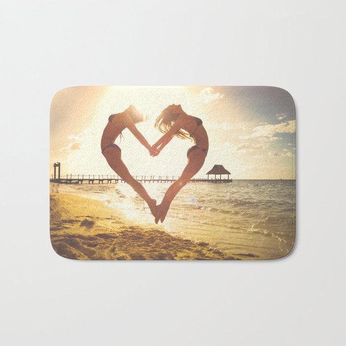 heart beach holiday 5 Bath Mat