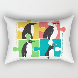 Penguin Adélie Chinstrap Emperor Gento Autism Rectangular Pillow