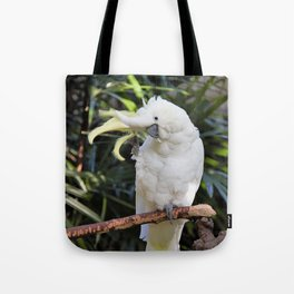 Sulfur-Crested Cockatoo Salutes the Photographer Tote Bag