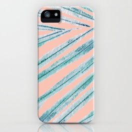 palm leaf coral iPhone Case