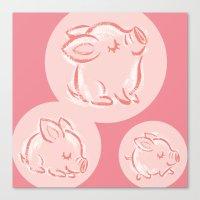 pig Canvas Prints featuring Pig by Toru Sanogawa