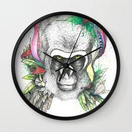 Wild Animals, Gorilla Shaman Wall Clock