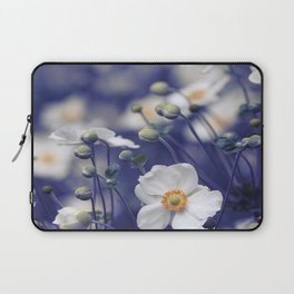 WHITE ANEMONE FLOWERS Laptop Sleeve
