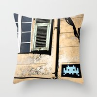 invader zim Throw Pillows featuring Invader by theGalary
