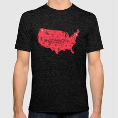 Get Lost X-LARGE Tri-Black Mens Fitted Tee