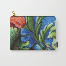 Beaux Arts Green Leaf Relief Carry-All Pouch