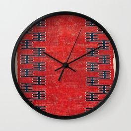 Yüncü Balikesir Northwest Anatolian Kilim Print Wall Clock