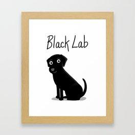 Black Lab - Cute Dog Series Framed Art Print