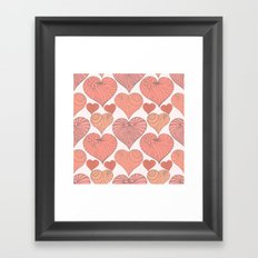 Pink hearts. Framed Art Print