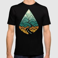 The Road Goes Ever On: Autumn Black Mens Fitted Tee X-LARGE