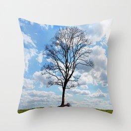 Cielo azul Throw Pillow