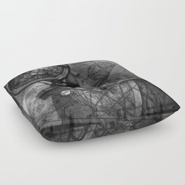 Old World Travel bw Floor Pillow