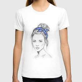 Girl in Blue T-shirt