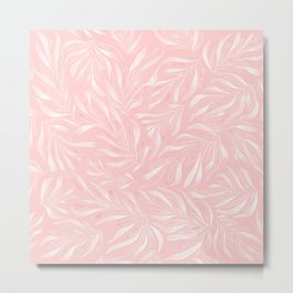 Pink Foliage III Metal Print