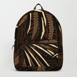 Vintage Samoan Tribal Tapa Art Board Backpack
