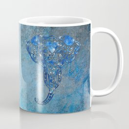 Blue Denim Elephant Coffee Mug