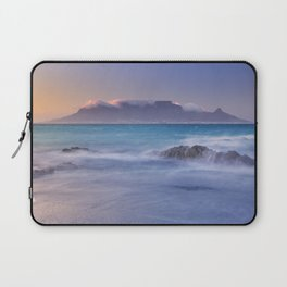 Sunrise over the Table Mountain and Cape Town from Blouwbergstrand Laptop Sleeve