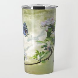 Butterflies and Apple Blossoms Travel Mug