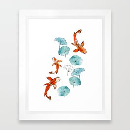 Waterlily koi Framed Art Print