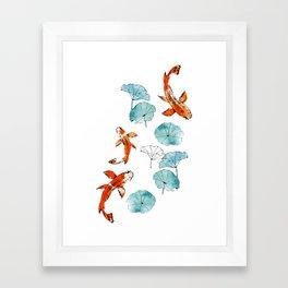 Waterlily koi Framed Art Print