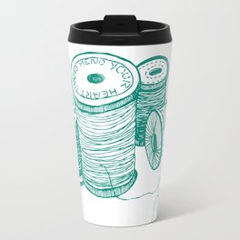 Mend your heart thread Travel Mug