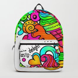 Ice Cream Sweets in Rainbow Neon Backpack