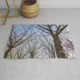 Sloped Lawn & Japanese Cherry Trees Rug