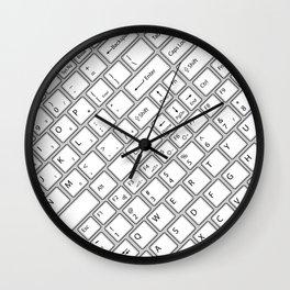 Keyboarded Wall Clock