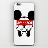 mickey iPhone & iPod Skins featuring Mickey by GreekStreet