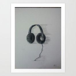 headphones Art Print