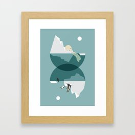 North and south Framed Art Print