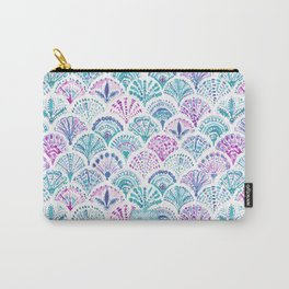 SHELL OUT Boho Mermaid Scales Carry-All Pouch