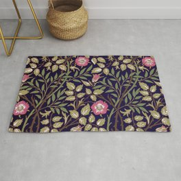 William Morris Sweet Briar Floral Art Nouveau Rug