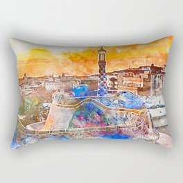 Barcelona, Parc Guell Rectangular Pillow